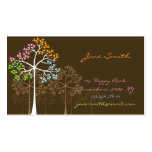 fatfatin Four Seasons Trees Custom Business Cards