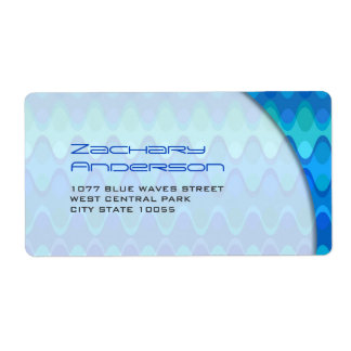 fatfatin Funky Waves 04 * Custom Address Labels
