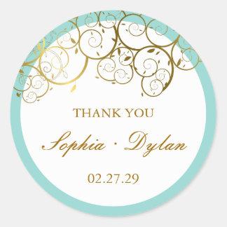 fatfatin Golden Spirals Thank You Sticker