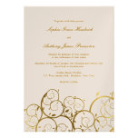 fatfatin Golden Spirals Wedding Invitation