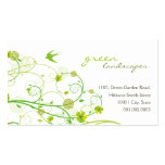 fatfatin Green Hibiscus Swirls & Swallows 2 Pack Of Standard Business Cards