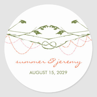 fatfatin Knotted Love Trees Wedding Stickers
