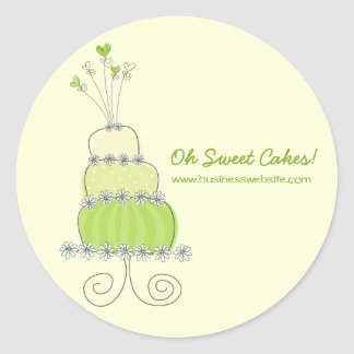 fatfatin Lime Wedding Cake Business Sticker