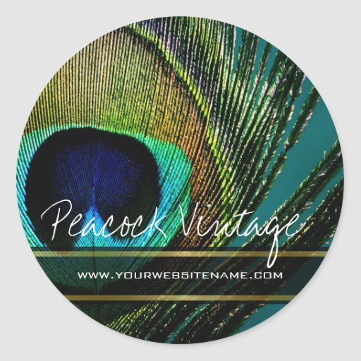 fatfatin Photography Peacock Feather Sticker