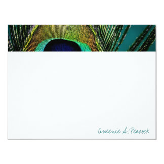 fatfatin Photography Peacock Feathers Thank You Personalized Invitation
