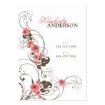 fatfatin Pink Roses Fleur Elegant Profile Card Business Card Template