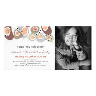 fatfatin Retro Pebbles Birthday Photo Invite Photo Card Template