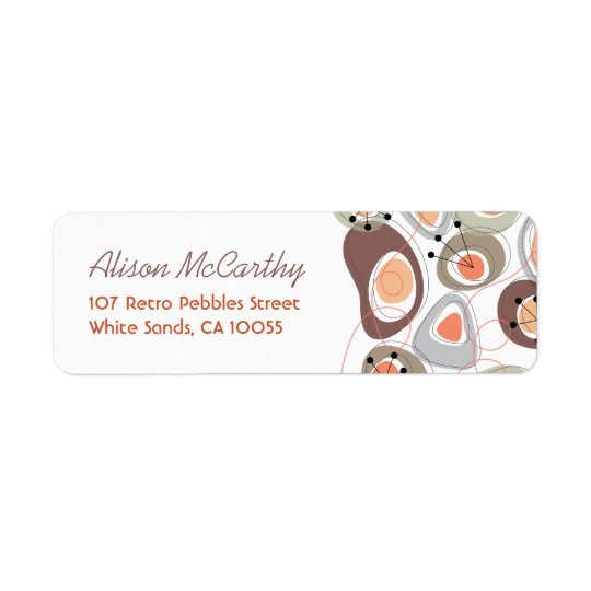 fatfatin Retro Pebbles Return Address Labels