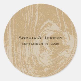 fatfatin Rustic Wood Autumn Fall Wedding Stickers
