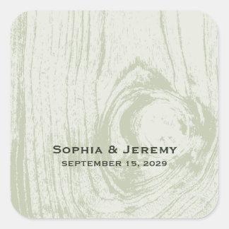 fatfatin Rustic Wood Spring Summer Wedding Sticker