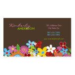 fatfatin Spring Flowers Garden Custom Profile Card Business Card Templates