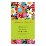 fatfatin Spring Flowers Garden Profile Card Business Card Templates