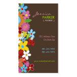 fatfatin Spring Flowers Garden Profile Card Business Cards