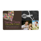 fatfatin Spring Flowers Heart Business Labels