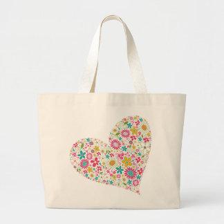 fatfatin Spring Flowers Heart Custom Bag