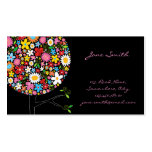 fatfatin Spring Flowers Pop Tree Businesscard