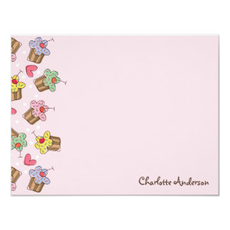 fatfatin Sweet Cherry Cupcakes Thank You Note 11 Cm X 14 Cm Invitation Card