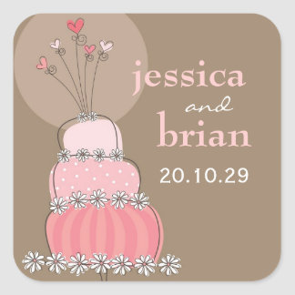 fatfatin Sweet Wedding Cake Thank You Sticker