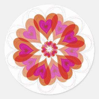 fatfatin Valentine Flower Love Hearts Gift Sticker