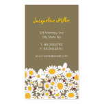 fatfatin White Daisies & Ladybugs Profile Card Business Card