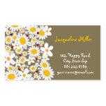 fatfatin White Daisies & Ladybugs Profile Card Business Card Templates