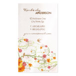 fatfatin Yellow Hibiscus Swirls Swallows Profile Pack Of Standard Business Cards