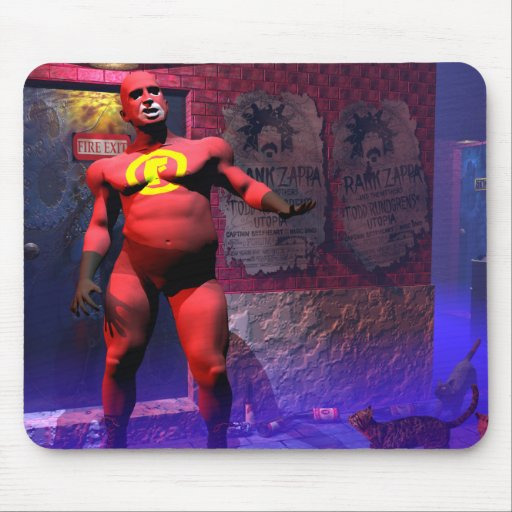 FatGuy VS the Alley Cat Gang Mouse Pad