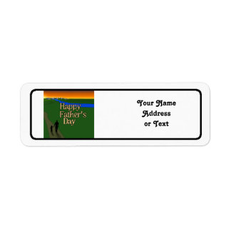 Father And Child - Father's Day Return Address Label