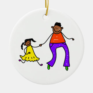 Father And Daughter Christmas Ornament