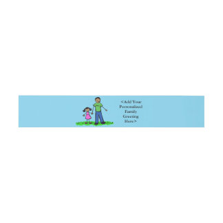 Father and Daughter Custom Invitation Belly Bands Invitation Belly Band