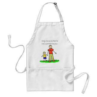 Father and Son Family Character Custom Art Apron