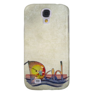 Father and son fishing artistic text design galaxy s4 cover