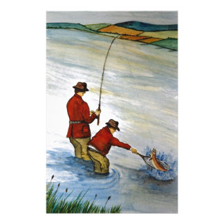 Father and son fishing trip stationery