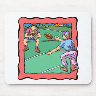 Father And Son Playing Football Mousepads