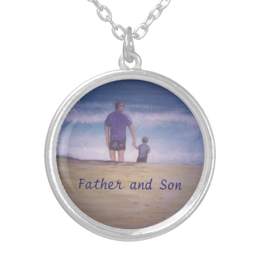Father and Son Round Necklace