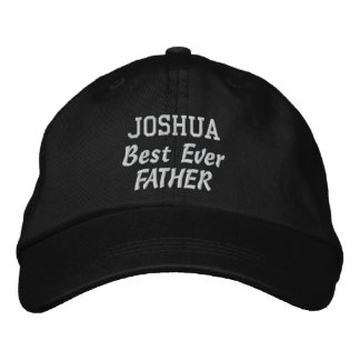 FATHER Best Ever Father Custom Name Father's Day Embroidered Hats