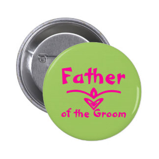 Father Button in lime green and pink