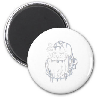Father Christmas 6 Cm Round Magnet