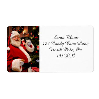 Father Christmas  Address Label