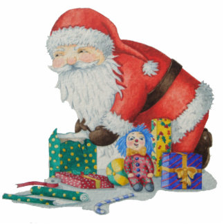 father Christmas and gifts Photo Sculpture