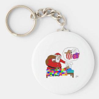 Father Christmas and Yabba Rat Key Chains