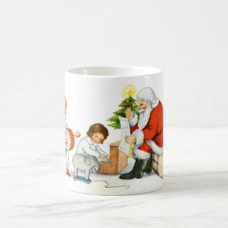Father Christmas, children and toys Basic White Mug