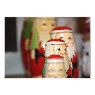 Father Christmas Group Invitation 13 Cm X 18 Cm Invitation Card