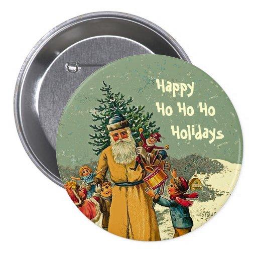 father christmas holiday pin