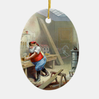 Father Christmas in his workshop Christmas Ornament