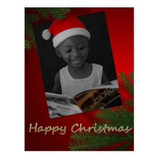 Father Christmas Junior Postcode Postcard