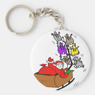 FATHER CHRISTMAS LAPINS1.png Key Chains