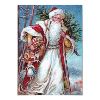 Father Christmas On His Way Card