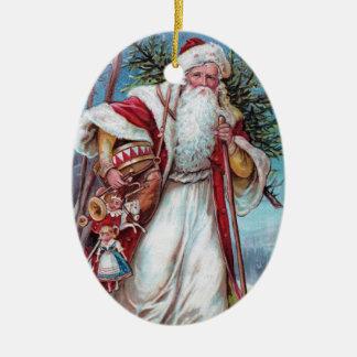 Father Christmas On His Way Christmas Ornament