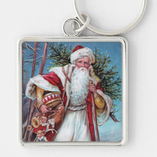 Father Christmas On His Way Keychain